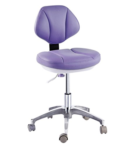 YOHOSO Portable Micro Fiber Leather Dentist Chair Doctor's Stool Mobile Chair Height Adjustment
