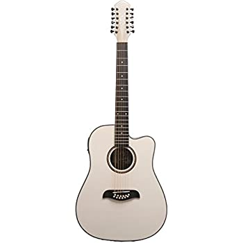 oscar schmidt od312cewh 12 strings acoustic electric guitar white musical instruments. Black Bedroom Furniture Sets. Home Design Ideas