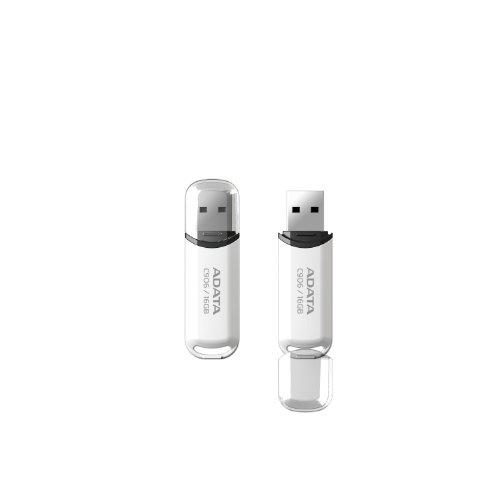 ADATA C906 16GB USB 2.0 Compact Design Flash Drive, White (AC906-16G-RWH)