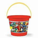 Saban's Power Rangers Super Mega Force Jumbo Plastic Bucket - Halloween, Easter, or Sand!