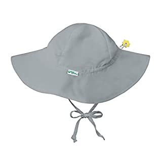 i play. by green sprouts Baby Toddler Brim Hat   All-Day UPF 50+ Sun Protection for Head, Neck, Eyes, Gray, 2T/4T