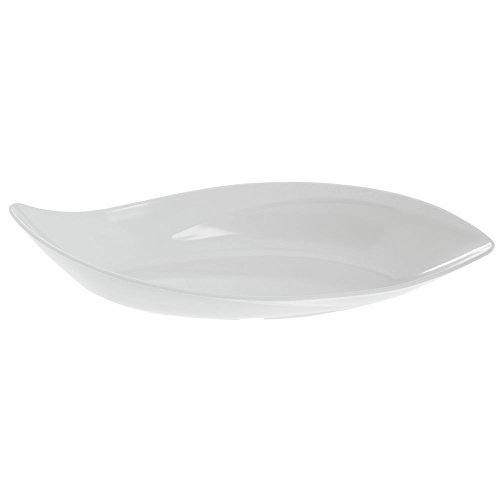 Dalebrook Melamine Leaf Bowl in White 19 3/4