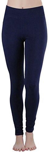 ToBeInStyle Women's Medium Weight Breathable Leggings - Navy - XL