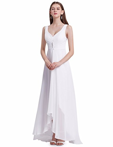 Ever-Pretty Womens Formal Black Tie Affair Dress 12 US White