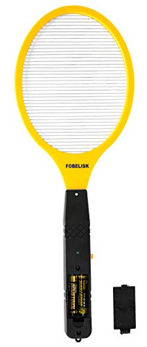 FOBELISK Bug Zapper - Electric Fly Swatter - Mosquito Zapper Killer - Fly Zapper - Electric Fly Swatter Racket for Camping, Travel, Outdoor and Indoor Pest Control (2AA Batteries Included)