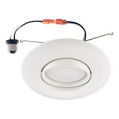 OSTWIN 6 Inch Directional Recessed LED Can Gimbal Light Fixture, Adjustable Angle Downlight Directional, Dimmable, 15 W (120 Watt Replacement), 1150 Lm, 3000K Warm Light, ETL & Energy Star