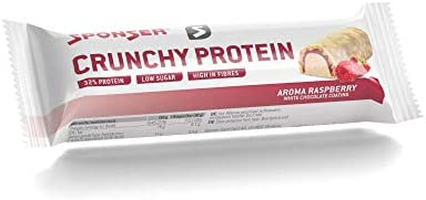 Sponser Crunchy Protein Bar 12 x 50g im Display Geschmack Raspberry White Chocolate