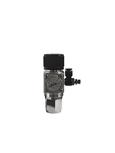 NilocG Aquatics Aquarium Co2 Regulator With Solenoid | MINI Co2 REGULATOR | Fits Full Size and Paintball Co2 Tanks