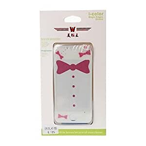 Bow Pattern Color Shining Screen Protective Film Stick By Yourself Case Back Cover for iPhone 4/4S