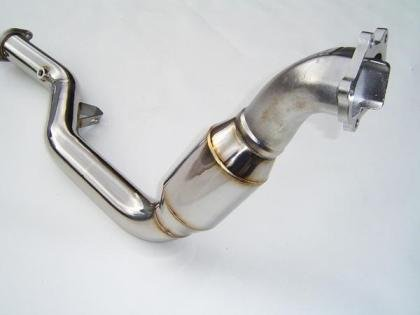 Invidia 05+ AT LGT Polished Divorced Waste Gate Downpipe with High Flow Cat
