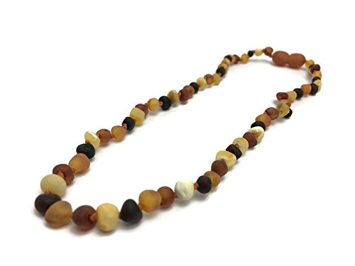 Baltic Amber Teething Necklace Raw Multi 12.5 In Rainbow Baby Toddler Infant Drooling Teething Fever Authentic Certified