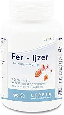 Leppin – Hierro, 90 pastillas, bisglicinato de hierro, Alta biodisponibilidad, complemento alimenticio natural