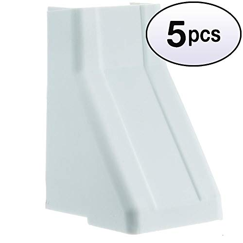 GOWOS (5 Pack) 1.25 inch Surface Mount Cable Raceway, White, Ceiling Entry