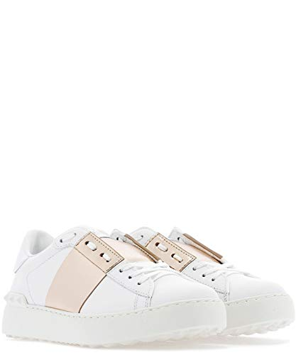 Bianco Sneakers Pelle Valentino Rw2s0781flr833 Donna AqInOwdHn