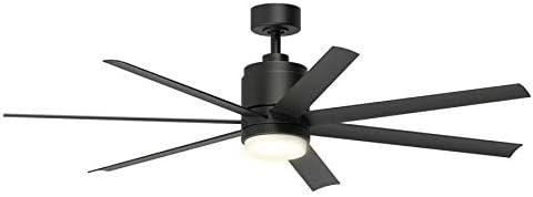 FSC Blitz 56-in - Ventilador de techo con luz LED para interiores ...