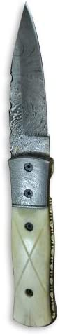 Perkin Knives – Handcrafted Damascus Hunting Knife – Folding Knife