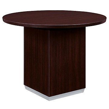 Mocha 42'' Round Conference Table (Mocha Finish) by OFF!