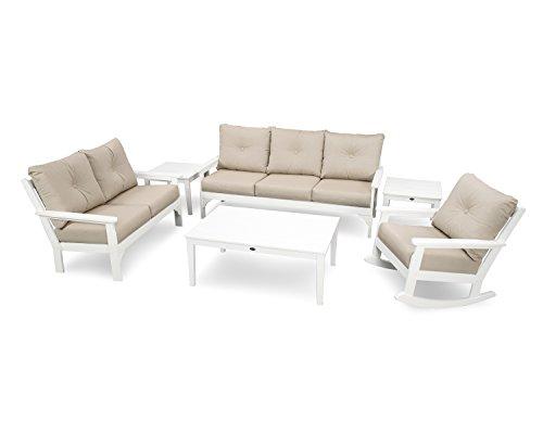 - POLYWOOD Vineyard 6-Piece Deep Seating Set (White/Cast Ash)