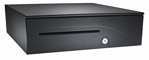 APG T237A-BL1616 100 Series Heavy Duty Cash Drawer, Hardwired for Epson, Adjustable Dual Media Slots, Fixed 5X5 Till, 16.15
