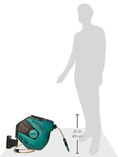Amazon Basics - Avvolgitubo automatico con flessibile, montaggio a parete, 25 m 6 spesavip