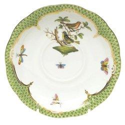 Herend Rothschild Bird Green Tea Saucer Motif #3