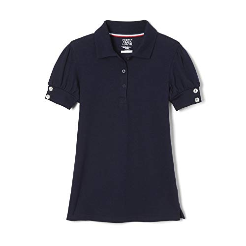French Toast Big Girls Puff Sleeve Polo Shirt, Navy, X-Large/14/16