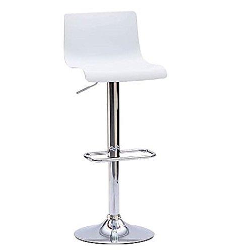 Arredo & Design Italy 2 Sgabelli da Bar Cucina girevoli seduta bianca regolabile in altezza 62-82 cm. con schienale e poggiapiedi