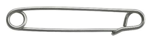 Perri's Silver Large Plain Stock Pin, Silver, One Size