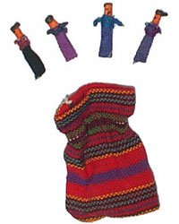 Guatemalan Worry Dolls in a Cloth Bag, Baby & Kids Zone