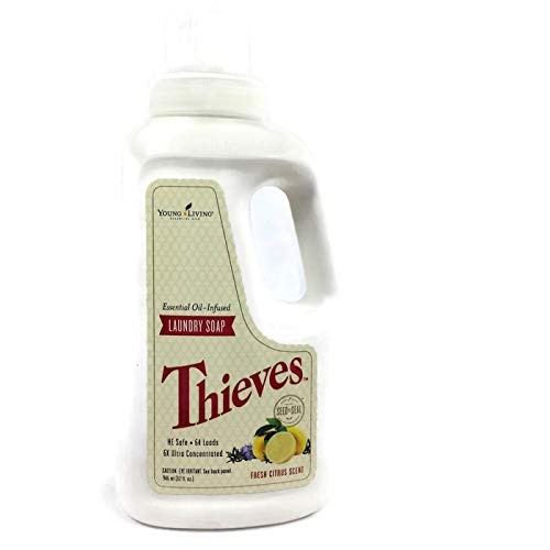 (Thieves Essential Oil-Infused 6x Ultra Concentrated Laundry Soap Fresh Citrus Scent 32 fl. oz (946 ml) by Young Living)