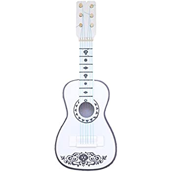 DOFER Toy Coco Guitar Handmade Coco White Guitar Coco Kids Guitar Toy Guitar Version Coco Movie Toys Guitar from Coco The Movie Toy Guitar for Kids Coco ...