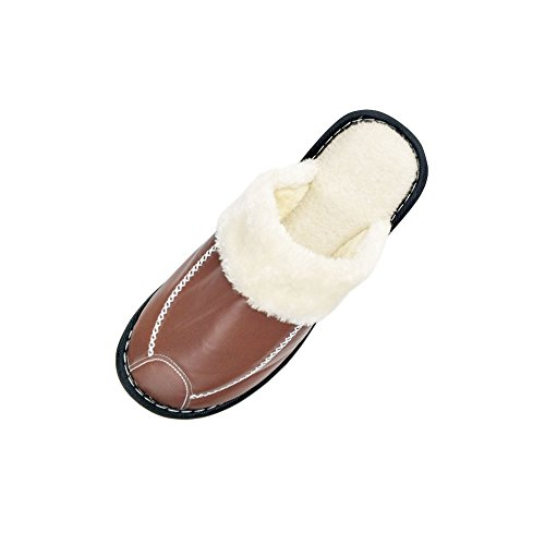 Pictures of HRFEER Women's Cozy Faux Fur House WS17 Coffee 1