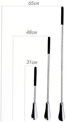 軽量 調節可能なロング取扱靴リフターパンダシューホーン - 拡張&折りたたみステンレス鋼伸縮春靴べら 耐用 (Color : Silver, Size : 31*4cm)