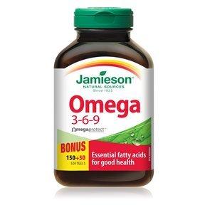 Jamieson Omega 3-6-9, 200 softgels Bonus