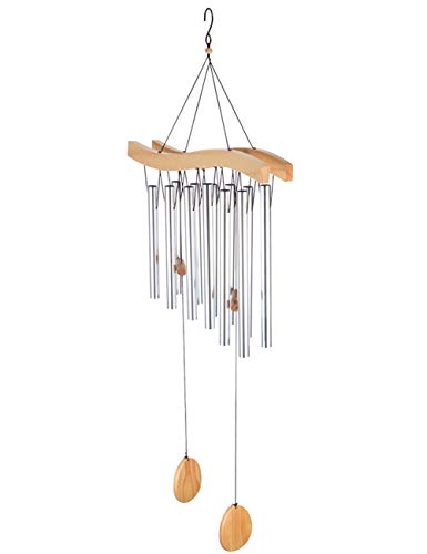 Afirst Large Wind Chimes, Amazing Grace Wind Chime Outdoor with 12 Tuned Tubes, Elegant Metal Wind Chimes for Garden, Patio, Balcony and Home (37