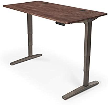 Peachy Uplift Desk V2 Standing Desk With Dark Brown Rubberwood Solid Wood Desktop Height Adjustable Frame Industrial Advanced Memory Keypad Wire Gmtry Best Dining Table And Chair Ideas Images Gmtryco