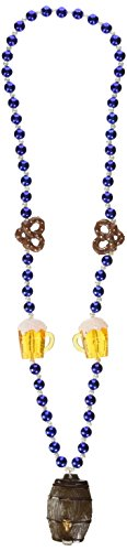 Beistle 50949 Oktoberfest Beads with Keg Medallion, 40-Inch