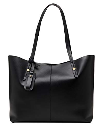 J.Crew Women's Smooth Leather Unlined E/W Tote Black One Size