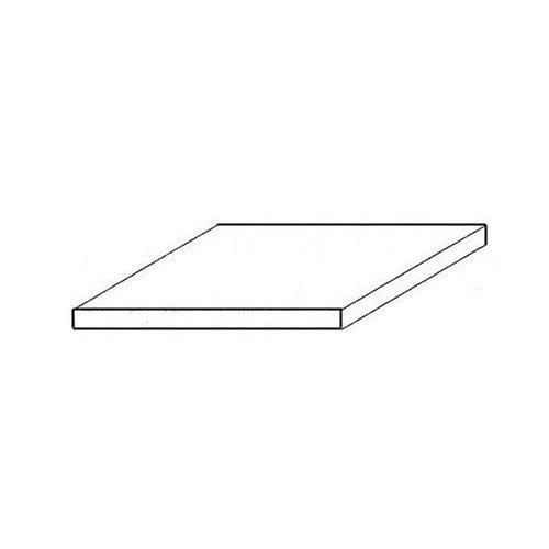 wei/ß Polystyrol-Modellbauplatten 0,5 x 245 x 495 mm