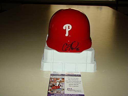 Cole Hamels Autographed Signed Philadelphia Phillies Mini Baseball Helmet JSA #R57161 MLB