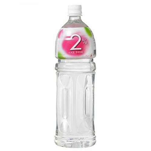 2% refreshing water peach 1.5 L (50.34 fl oz) 2 bottles by lotte