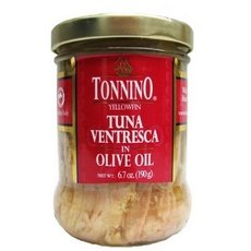Tonnino Ventresca Tuna in Olive Oil 6.7 oz. Jars Pack of 6