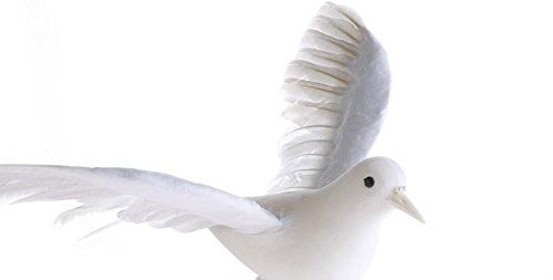 (Inspired By Nature Open Winged Artificial White Dove Bird with Wired Feet for Displays, Decorating and Embellishing)