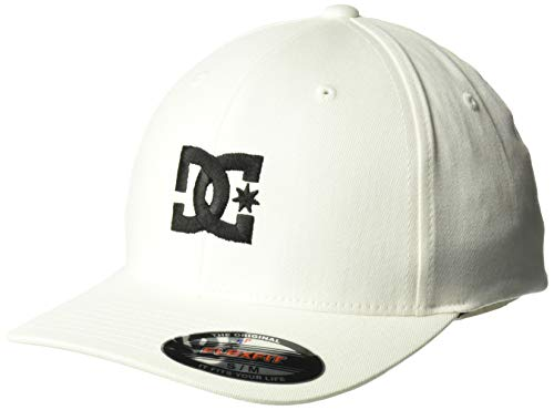- DC Men's Cap Star 2 Stretch Fit Hat, White/Black, L/XL