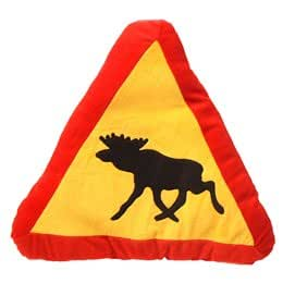 Swedish Moose Crossing Pillow