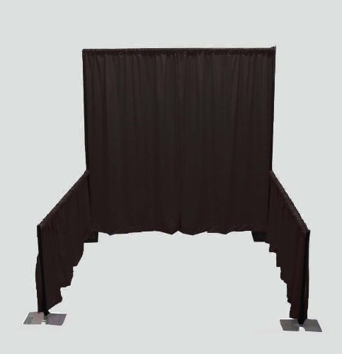 Portable Tradeshow Booth (Pipe and Drape) (Black) by OnlineEEI