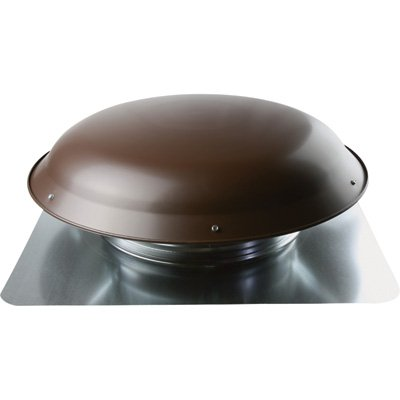 Cool Attic Power Roof Vent - 1080 CFM, Brown Finish, Model# CX1000AMBRUPS