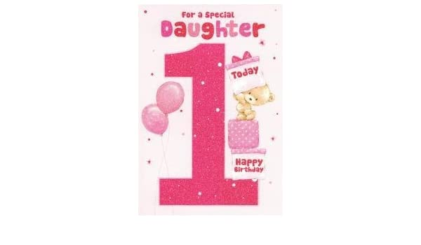 Amazon For A Special Daughter On Your 1st Birthday Card