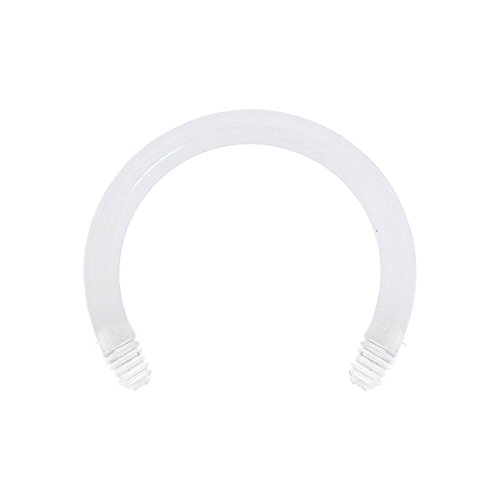 Body Candy Bioplast Clear Flexible Replacement Horseshoe Circular Barbell 14 Gauge 1/2