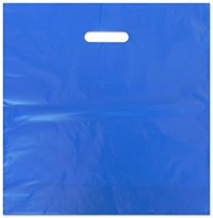 Bolsa Plastico Azul 40x40 cm troquelada, 100 ud por 18,40